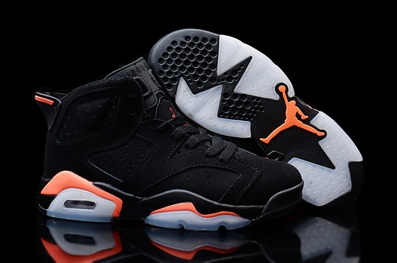 "Womens Air Jordan 6 ""infrared 2014"" Shoes Black/red"
